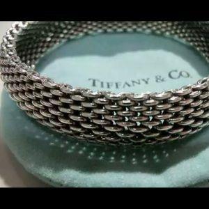Tiffany & Co Somerset Mesh Bangle Bracelet Vintage